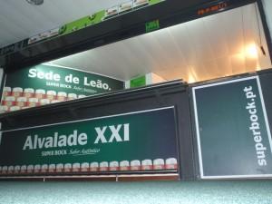 Super Bock Alvalade XXI bares.